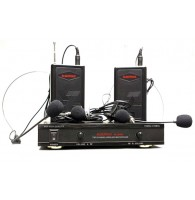 Радиосистема AUDIOVOICE WL-22HPM с 2-мя портативными передатчиками 2 головных и 2 пеличных микрофона