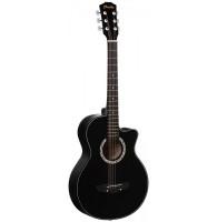 PRADO HS-3810/BK - акустическая гитара фолк с вырезом