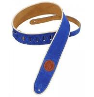 LEVYS MSS3-2CP-ROY - ремень для гитары замшевый с декоративным кожаным кантом