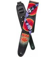 PLANET WAVES 25LK07 гитарный ремень, кожа, серия KISS Strap Collection, рисунок Sonic Boom