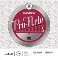 D ADDARIO J59 3/4M Pro-Arte струны для виолончели 3/4 Medium
