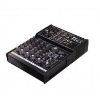 Invotone MX6FX - Микшерный пульт 2 микрофонных входа XLR и балансный Jack, 2 стерео входа