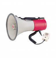 SHOW ER-56S - мегафон 25 вт, выносной микрофон,сирена, 12в, 8 батарей тип
