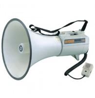 SHOW ER-68S - мегафон 45 Вт,  15 В, выносной микрофон, сирена, вх.AUX,  вес 3,3 кг, алюминий