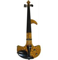 Электроскрипка Woodcraft FANTASY 1YBK 4/4 - Электроскрипка чёрно/жёлтая