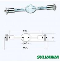 Sylvania BA1200DE S6.0(MSR1200SA/DE) лампа газоразрядная, 1200W